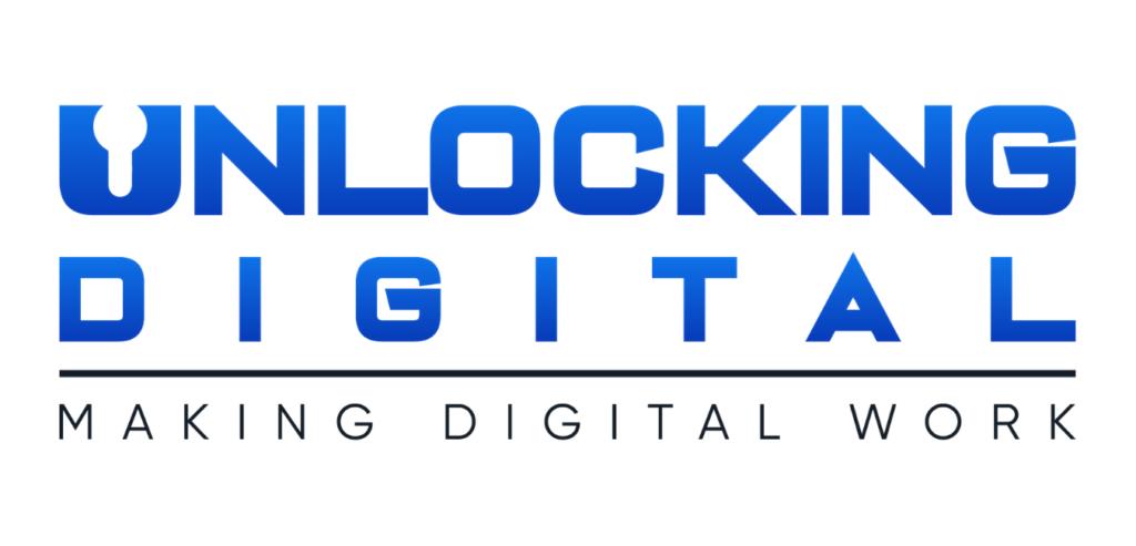 Een afbeelding van het logo van het bedrijf unlocking digital